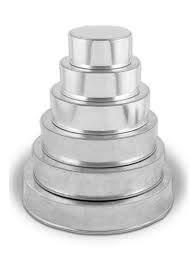 Set of 6 Tier Round Multilayer Birthday/Wedding Anniversary Cake Tins/Cake Pans/Cake Moulds 6''-16'' - all 3'' Deep