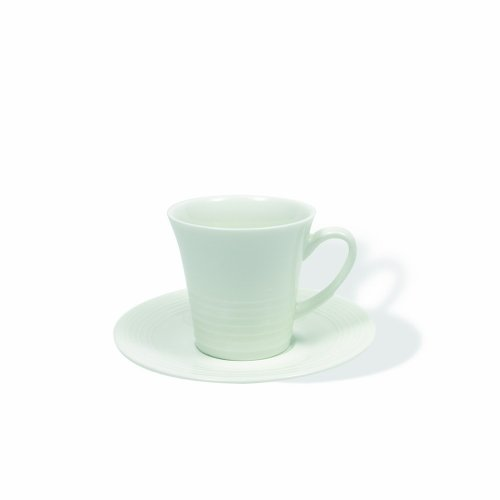 Maxwell and Williams Basics Cirque Espresso Demi Cup and Saucer, White