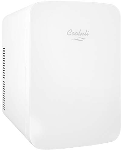 (Cooluli Infinity 15-liter Compact Cooler/Warmer Mini Fridge for Cars, Road Trips, Homes, Offices, and Dorms (White))