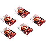 TDK B-90 (Pack of 5) Brilliant Cassette Tapes, Normal Position Type I 90 Min-Low Noise High Output