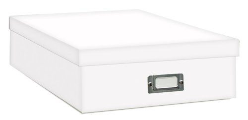 Acid Free Fabric (Pioneer Jumbo Scrapbook Storage Box, Crafters White, 14 3/4