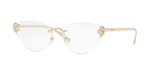 Versace VE1254B Eyeglass Frames 1252-54 - Pale Gold VE1254B-1252-54