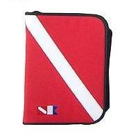 (Trident 6 Ring Zippered Dive Log Organizer - FLAG)