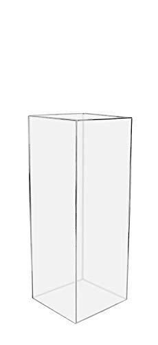 305 Displays Acrylic Art Sculpture Stand Pedestal Display Clear 12