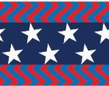 Product image of Native Pup American Flag Dog Collar (Large, Center Stars)