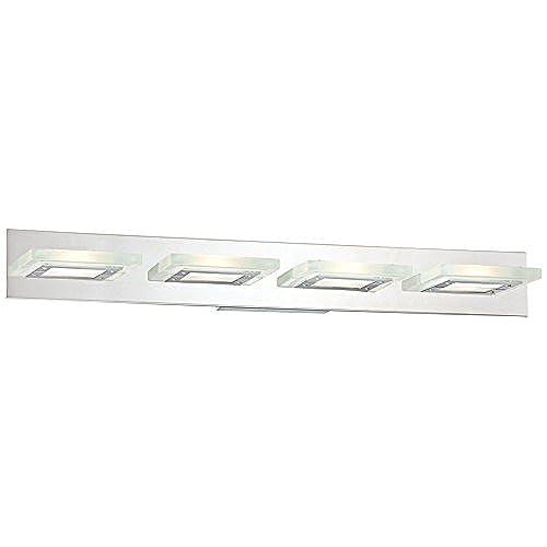 """delicate Possini Euro Emilio 36 1/2"""" Wide Chrome Bath Light"""