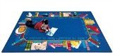 Joy Carpets Kid Essentials Language & Literacy Read to Succeed Rug, Multicolored, 7'8'' x 10'9'' by Joy Carpets
