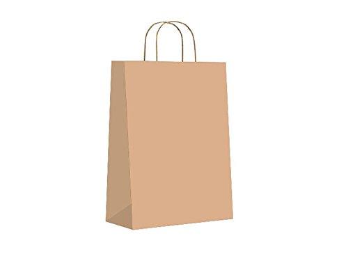 SIN MARCA Bolsa de papel asa retorcida kraft reciclado ...
