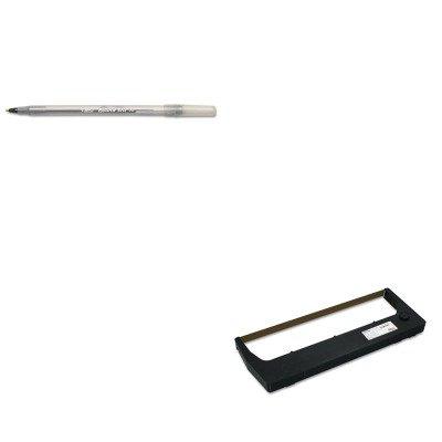 KITBICGSM11BKPRT255048402 - Value Kit - Printronix 255048402 Ribbon (PRT255048402) and BIC Round Stic Ballpoint Stick Pen ()