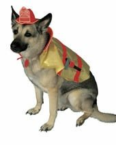 Fire Chief Dog Costume (Fire Chief Dog Fireman Costume Size Medium)