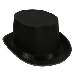 Collapsible Top Hat (Beistle Satin Sleek Top Hat - Black)
