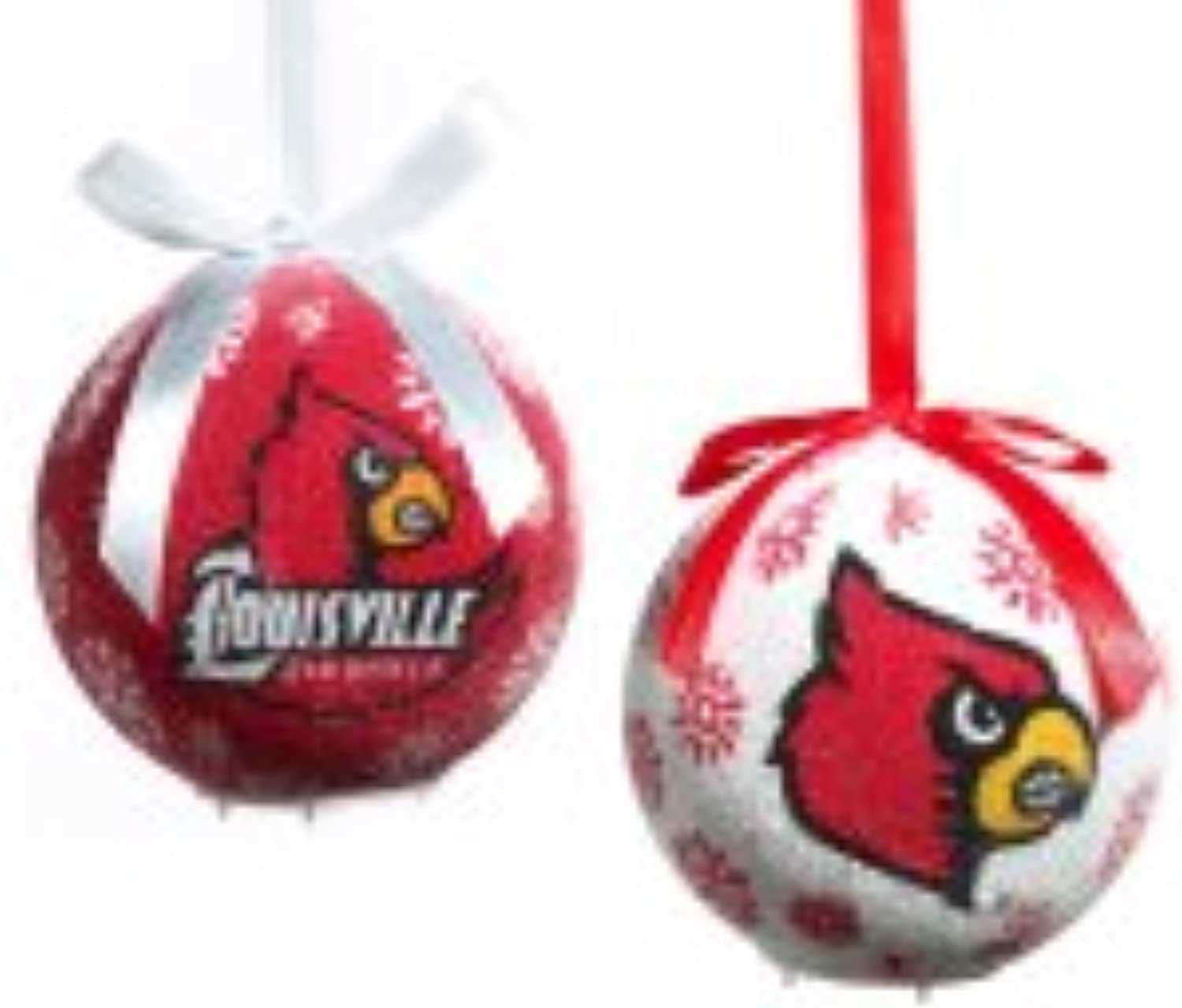 Louisville Cardinals Boxed LED Ornaments Set of 6