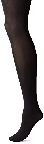 HUE Women's StyleTech Cool Temp Tights with Control Top, Black, 02