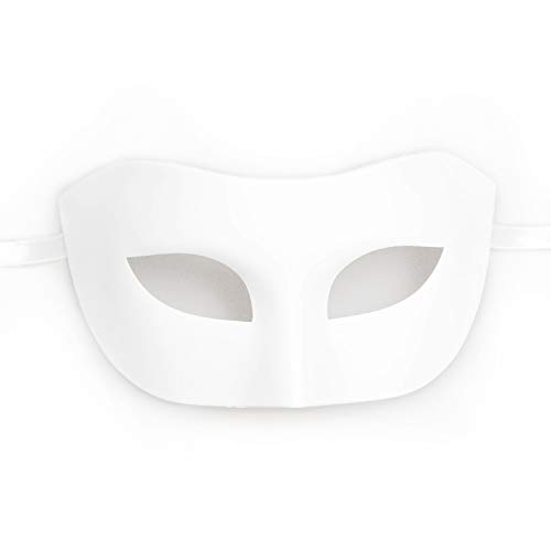 BeyondMasquerade Classic Masquerade Mask for Men (White) -