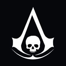 Ezio Revelations Costume (Assassin's Creed Anarchy Skull Vinyl Decal Sticker|WHITE|Cars Trucks Vans SUV Laptops Wall Art Tool Box|5.5
