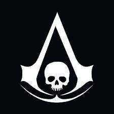 Assassin's Creed Brotherhood Costume For Kids (Assassin's Creed Anarchy Skull Vinyl Decal Sticker|WHITE|Cars Trucks Vans SUV Laptops Wall Art Tool Box|5.5