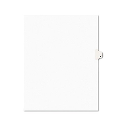 Avery Legal Dividers, Premium Individual Tab Titles, Letter Size, Side Tabs, K, Pack of 25 - Title Letters