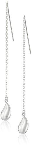 - Sterling Silver Teardrop Threader Earrings