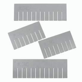 Quantum Storage Systems DS93060 Short Divider for Dividable Grid Container DG93060, Gray, 6-Pack
