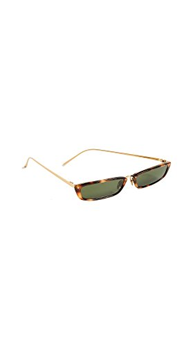 66646aac70d4 Linda Farrow Luxe Women s Narrow Rectangular Sunglasses