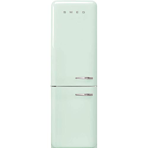 "Smeg FAB32ULPG3 50's Retro Style Aesthetic 24"" 50'S Style Refrigerator With Automatic Freezer, Pastel Green, Left Hand Hinge"