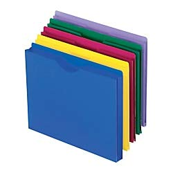 Pendaflex Translucent Poly File Jackets, Letter Size, Assorted Colors, 10 per Pack (50990)