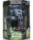 Star Wars Power of the Jedi IMPERIAL AT-ST SCOUT WALKER & PAPLOO on SPEEDER BIKE