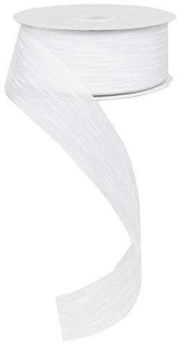 Slub Sheer Organza Ribbon, No Wire (1.5