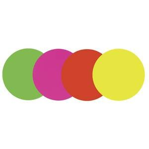 Assorted Neon Round Sign Cards, 5 1/4