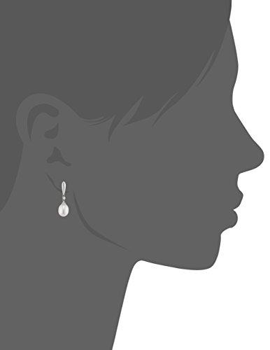 Miore - Mgr9004E - Boucles d'Oreilles Pendantes Femme - Or blanc 375/1000 (9 carats) - perles et diamants - 0.02 cts