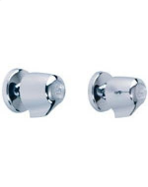 GERBER CHROME GERBER CLASSICS TWO HANDLE STRAIGHT PATTERN SHOWER FITTING - ()