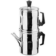Cafetera Moka Napoletana Ilsa de aluminio 99,5%: Amazon.es ...
