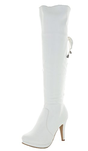 Dream (White High Heel Boots)
