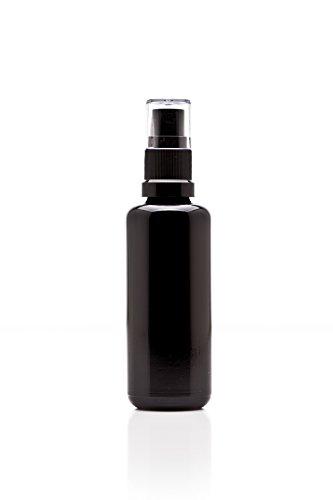 Infinity Jars 50 Ml (1.7 fl oz) Black Ultraviolet Glass Fine Mist Spray Bottle by Infinity Jars