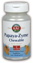 Kal 45 Mg Papaya Zyme, 100 Count