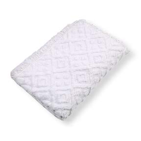 - LordBee Twin Size 100% Cotton Bedspread with White Diamond Pattern and Fringed Edges Original Construction Design Compact Soft Perfect Element Decor