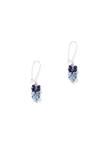 New York & Co. Women's Beaded Cluster Drop Earring 0 Grand Sapphire (Grand Cluster Ring)