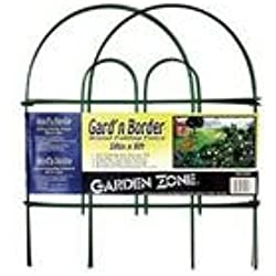 Origin Point Gard'n Border Round Folding Fence, Green, 18-Inch x 8-Feet
