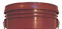 5 Gallon (20L) Plastic Buckets, 3-Pack - Maroon by BayTec (Image #1)