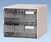 サカセ0-2449-01カセッターA3タイプ(引出2段)クリアー B07BD42DSD