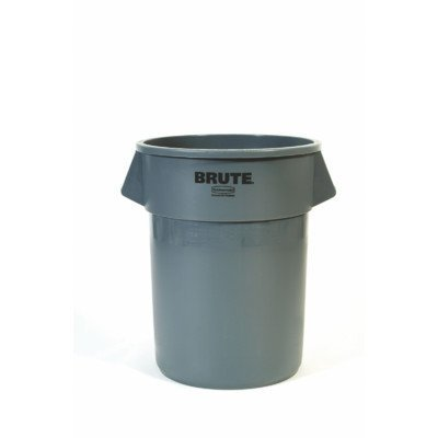 - BRUTE 55-Gal Round Containers [Set of 3] Color: Gray