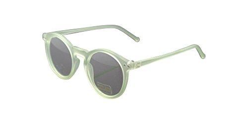 Matte Green Vintage 47mm Oval Eyeglass Frame Man Women Round Plain Glass Full-Rim - Spectacles Frames Police