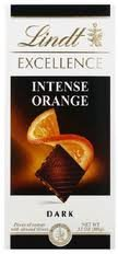 (Lindt Excellence Bar (Dark Chocolate Intense Orange) - Pack of 4 )