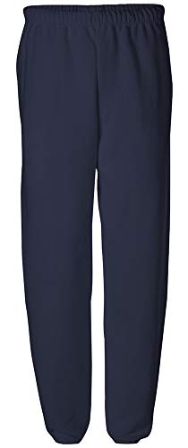 Joe's USA Adult Relaxed Fit Soft and Cozy Sweatpants in 11 Colors-S-Navy