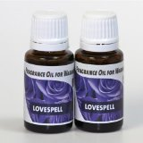 2-Pack. Love Spell Fragrance Oil for Warming from EcoScents (15 mL). Highly concentrated for intense fragrance, ready to use - no wax or water carrier needed.