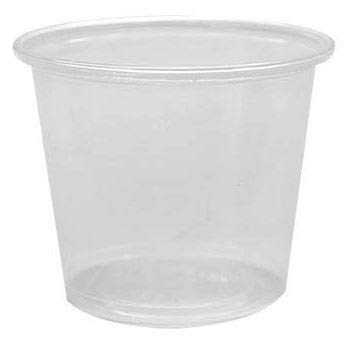 Plastifar Translucent Plastic Souffle Cups - Portion Cups, 5.5oz, Case of 2500, S550 by Plastifar