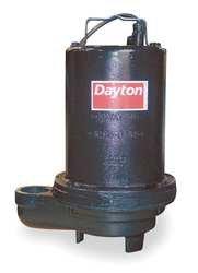 Dayton 4HU75 Pump, Effluent, 1/2 HP