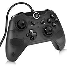- Sunjoyco USB Wired Controller for Nintendo Switch, Pro Controller Remote Gaming Gamepad Joypad for Nintendo Switch & PC (Windows XP/7/8/10) with 7.2FT Cable - Black
