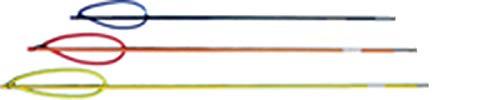 6mm Male Stainless Steel Spear - Trident 1/2 Inch Fiberglass Pole Spear, 4 Foot Shaft, 6mm Male End
