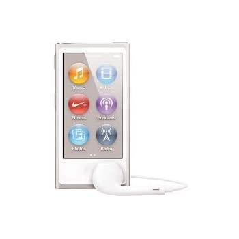 Apple iPod nano 16GB Silver (7th Generation) with Generic Earpods and USB Data Cable Packaged In Non Retail White Box